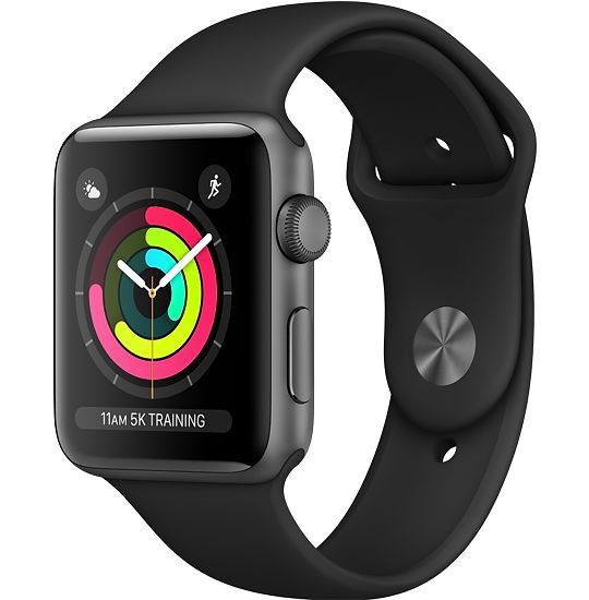 Buy Apple Watch Space Gray Aluminum Case with Black Sport Band online
