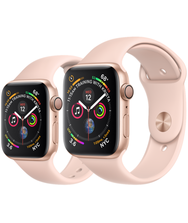 Buy Apple Watch Gold Aluminum Case with Pink Sand Sport Band online