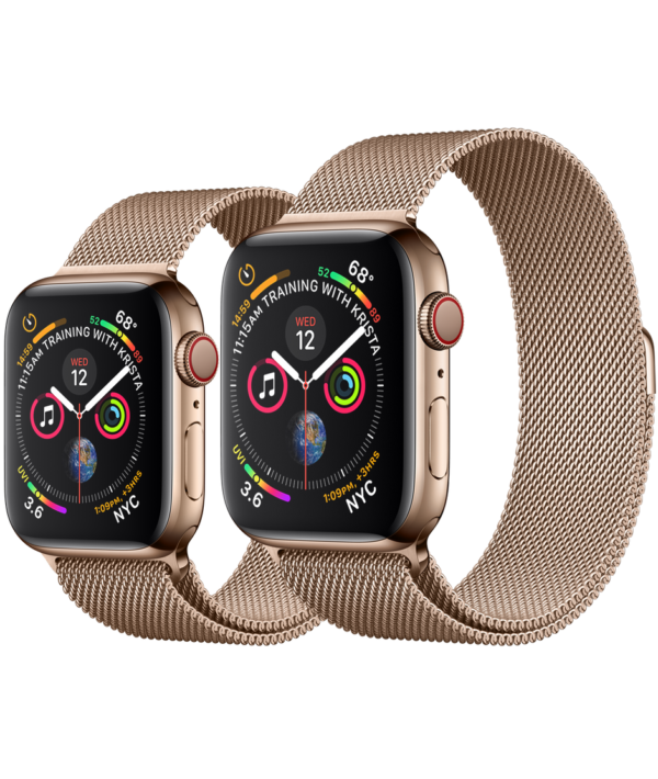 Buy Apple Watch Gold Stainless Steel Case with Gold Milanese Loop online