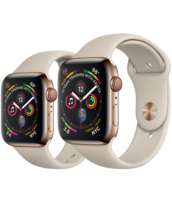 Buy Apple Watch Gold Stainless Steel Case with Stone Sport Band online