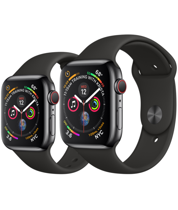 Buy Apple Watch Space Black Stainless Steel Case with Black Sport Band online